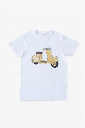Camiseta vespa amarilla papá