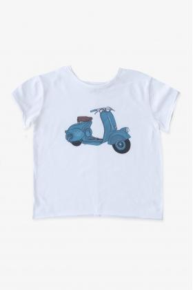 VESPA camiseta azul unisex