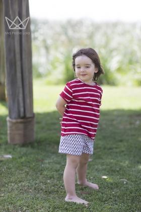 Camiseta rayas rojas niño