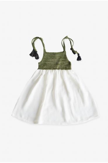RELOJ Vestido Ángela Verde niña