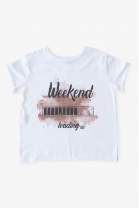 Camiseta Weekend Loading Terracota unisex