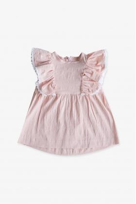 Vestido Frisée Rosa niña