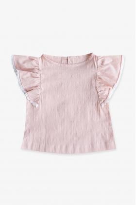 Blusón Frisée rosa niña