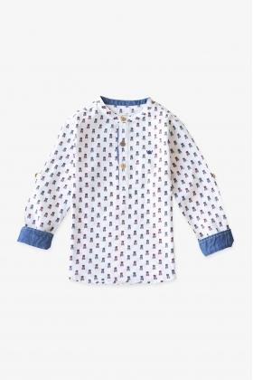 Camisa niño mao Gatos algodón