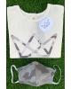 NATURE camiseta y mascarilla GRIS