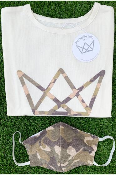 NATURE camiseta logo camuflaje verde