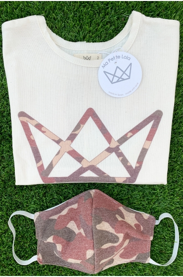 NATURE camiseta logo camuflaje rojo