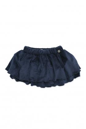Falda Culetín pana azul niña