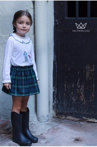 Falda Green niña