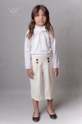 Pantalón culotte Marfil niña