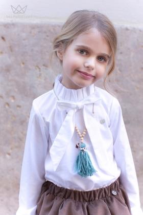 Camisa Lazada Blanca niña