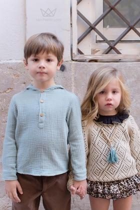 Camisa Polera Verde Mineral niño