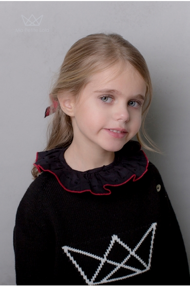Camisa Plumetti Negra niña