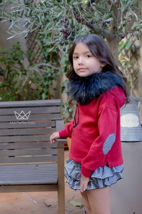 Falda Braguita Vichy niña