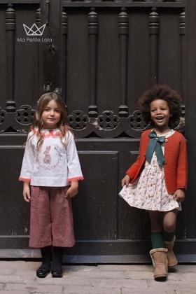 Pantalón culotte Cheviot Granate niña