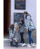 NATURE Sudadera mamá camuflaje GRIS con capucha pelo Ma Petite Lola