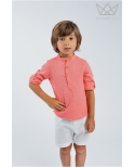 Camisa mao cuadrille coral