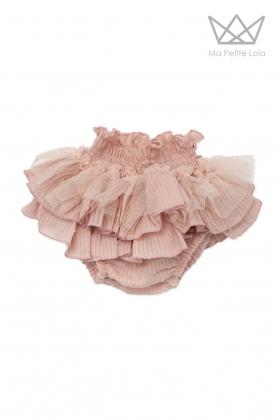 Falda braguita plumeti rosa