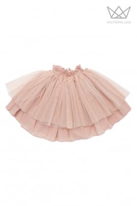 Falda Lola plumeti rosa