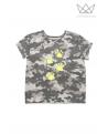 NATURE Camiseta HUELLAS flúor camuflaje NEGRO