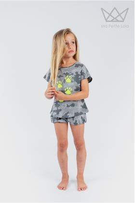 NATURE Camiseta HUELLAS flúor camuflaje GRIS