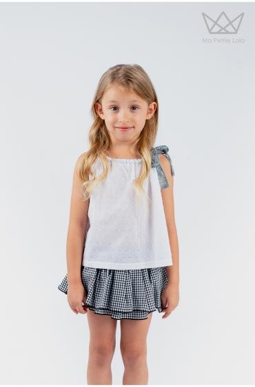 Falda culetín Vichy niña