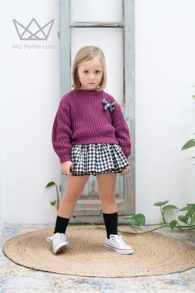 Falda culetín cuadros vichy
