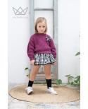 Falda culetín cuadros vichy Ma Petite Lola