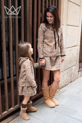 Falda mamá tweed