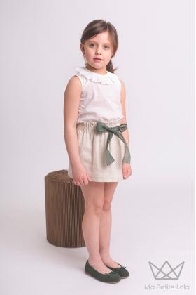 Conjunto POSITANO falda y camisa plumeti