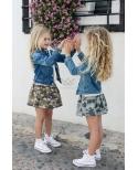 Falda camuflaje para niñas de Ma Petite Lola, marca moda infantil