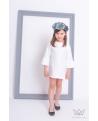 Vestido blanco niña Ma Petite Lola moda infantil