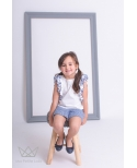 Conjunto niña AMALFI  short y camisa volantes Ma Petite Lola moda infantil