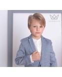 Americana niño lino azul Ma Petite Lola moda infantil
