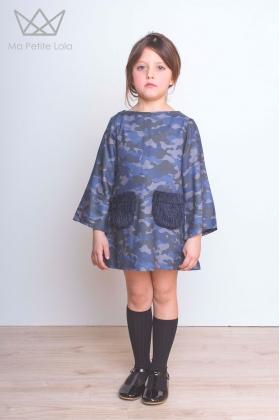 Vestido camuflaje Blue Camu