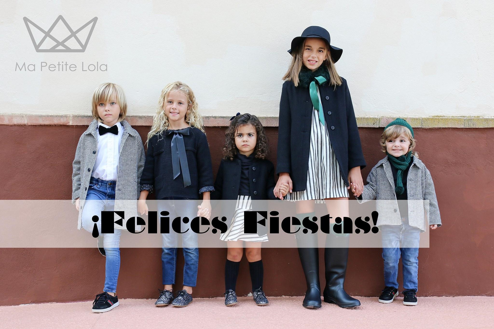 Moda infantil Navidades, ropa infantil de vestir, Ma Petite Lola