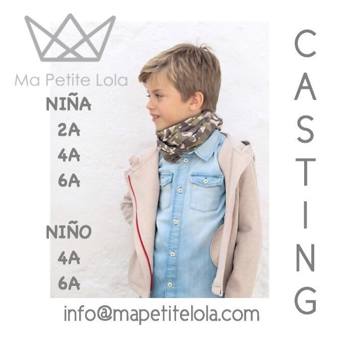 Casting moda infantil, Ma Petite Lola, Ropa infantil