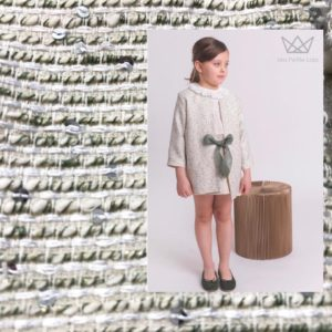 Tejido tweed, Tejido moda infantil, marca moda infantil, blog moda infantil, Ma Petite Lola