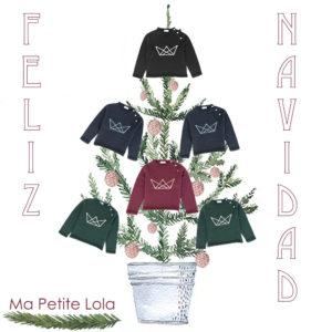 Ma Petite Lola, marca de moda infantil, made in Spain, felicitacion navidad