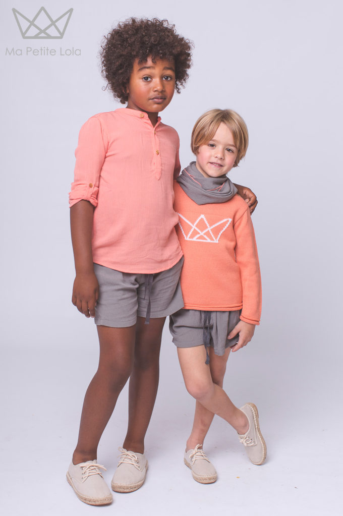 SHORT GRIS moda infantil, Ma Petite Lola