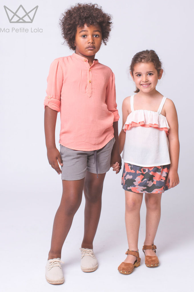 Camisa bambula moda infantil, Ma Petite Lola