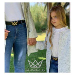 Cinturones logo Ma Petite Lola, moda infantil