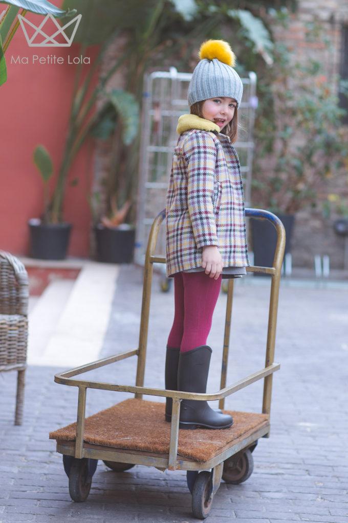 Ma Petite Lola, moda infantil, ropa infantil, made in spain, vestido cuadros, 5