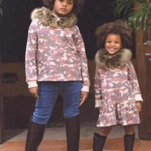 vestido camuflaje, Moda sostenible, Ma Petite Lola, moda infantil, ropa infantil, made in spain