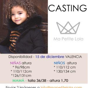 Casting moda infantil Ma Petite Lola